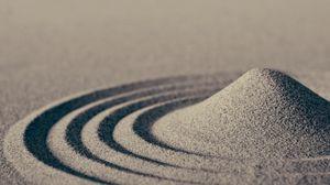 Preview wallpaper sand, waves, macro, circles