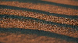 Preview wallpaper sand, waves, surface, macro, brown