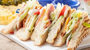 Preview wallpaper sandwich, bread, meat, vegetables