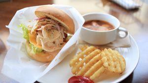 Preview wallpaper sandwich, potatoes, gravy, meat