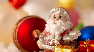 Preview wallpaper santa claus, christmas, new year, toys, glare