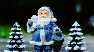 Preview wallpaper santa claus, christmas trees, new year