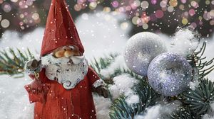Preview wallpaper santa claus, new year, figurine