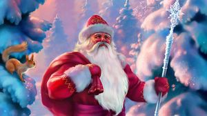 Preview wallpaper santa claus, new year, winter, fabulous, forest