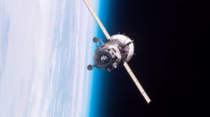 Preview wallpaper satellite, orbit, flight, iss, world