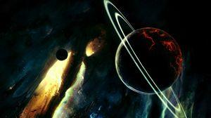Preview wallpaper saturn, destruction, planets, stars