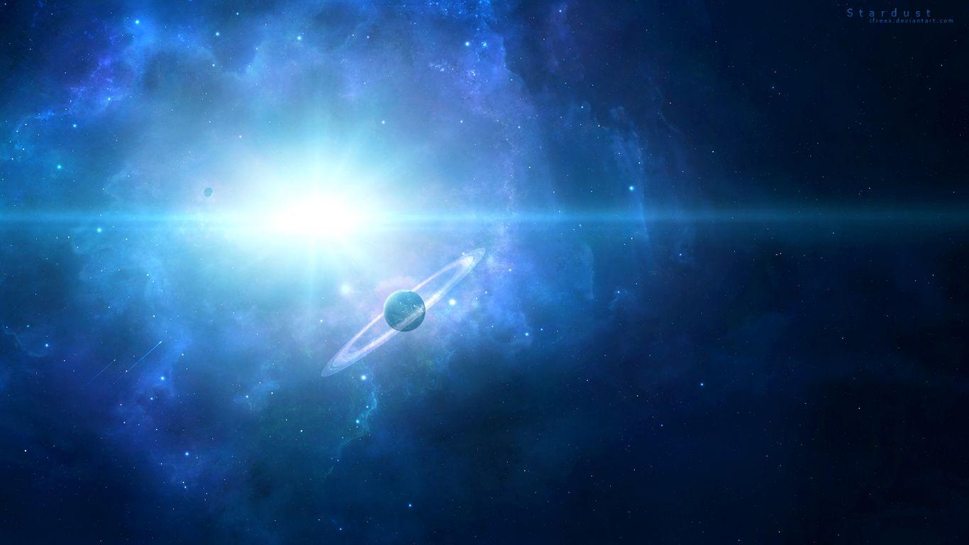 1366x768 Wallpaper saturn, planet, space, galaxy, universe