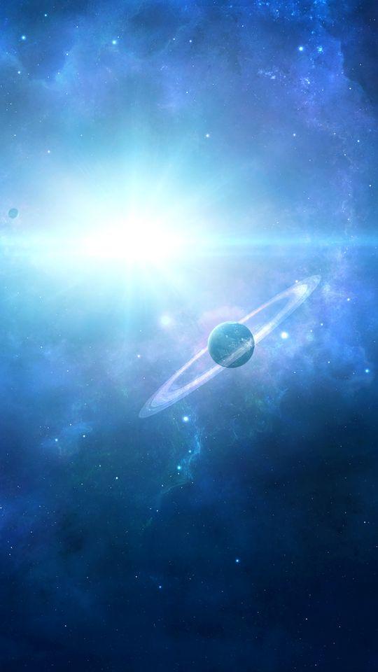 540x960 Wallpaper saturn, planet, space, galaxy, universe