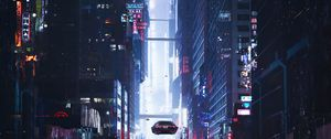 Preview wallpaper sci-fi, city, future, art, buildings, cars