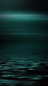 Preview wallpaper sea, horizon, dark, minimalism, brilliance