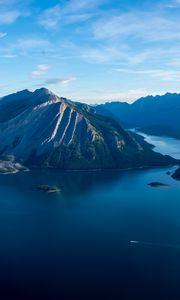 Preview wallpaper sea, lake, island, mountains