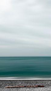 Preview wallpaper sea, shore, minimalism
