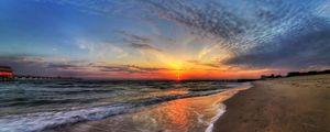 Preview wallpaper sea, sun, sky, surf