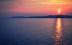 Preview wallpaper sea, sunset, horizon