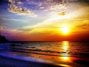 Preview wallpaper sea, sunset, landscape