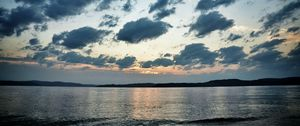 Preview wallpaper sea, water, clouds, landscape, twilight