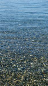 Preview wallpaper sea, water, pebbles, stones, nature