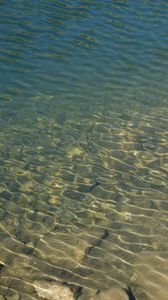 Preview wallpaper sea, water, waves, glare, stones