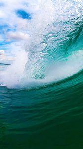 Preview wallpaper sea, wave, island