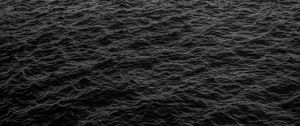 Preview wallpaper sea, waves, black, surface, water