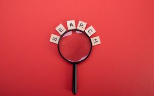 Preview wallpaper search, word, cubes, magnifier, red