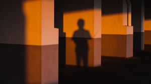 Preview wallpaper shadow, silhouette, dark, room