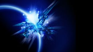 Preview wallpaper shape, glitter, shine, blue, sparkles