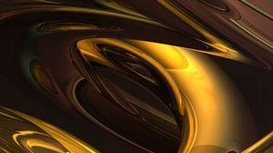 Preview wallpaper shape, shine, golden, volume