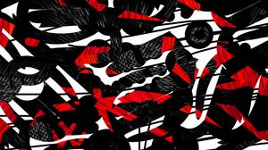 Preview wallpaper shapes, lines, red, black, abstraction