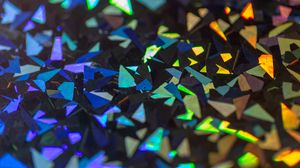 Preview wallpaper shards, gleam, colorful, sharp, edges