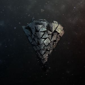 Preview wallpaper shards, stone, background, light