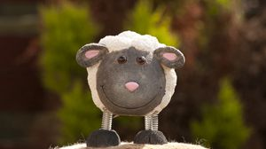 Preview wallpaper sheep, toy, muzzle, cheerful