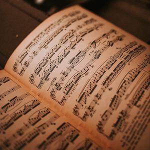 Preview wallpaper sheet music, notebook, music