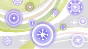 Preview wallpaper shiny, white, stripes, figures, light