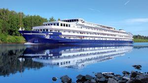 Preview wallpaper ship, russia, tourism, volga, recreation, nature