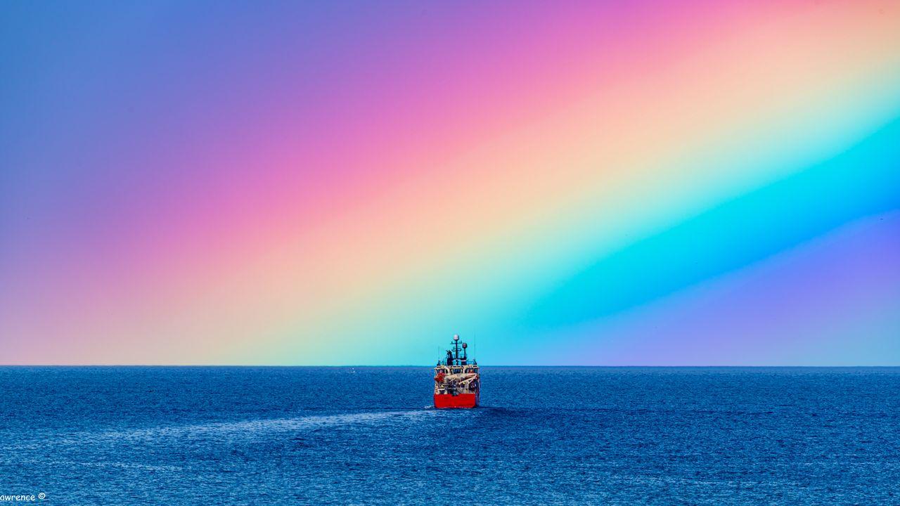 Wallpapership,sea,water,rainbow高清壁纸免费下载