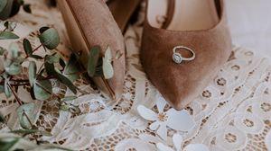 Preview wallpaper wedding, shoes, ring, bouquet, decoration, details, patterns