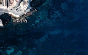 Preview wallpaper shore, aerial view, coast