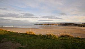 Preview wallpaper shore, beach, sea, horizon, nature