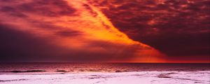 Preview wallpaper shore, radiance, sky, snow