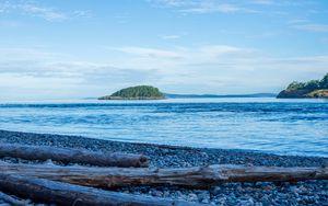 Preview wallpaper shore, sea, island, landscape, nature