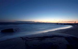 Preview wallpaper shore, sea, light, sky