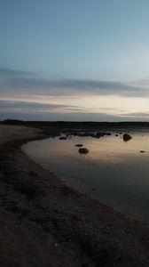 Preview wallpaper shore, sea, twilight, landscape