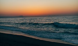Preview wallpaper shore, sea, water, twilight, landscape