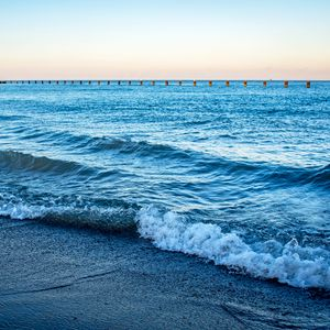 Preview wallpaper shore, sea, waves, horizon, nature