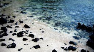 Preview wallpaper shore, stones, summer, river