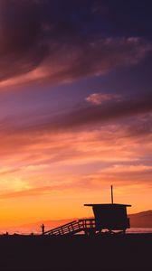 Preview wallpaper shore, sunset, sea, coast