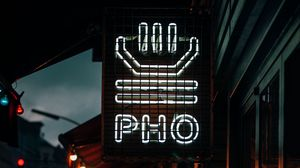 Preview wallpaper signboard, neon, night city, light