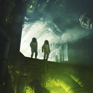Preview wallpaper silhouettes, chemical protection, costumes, radiation, fantasy
