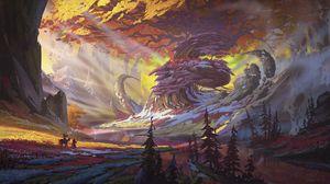 Preview wallpaper silhouettes, travel, landscape, fantasy, art